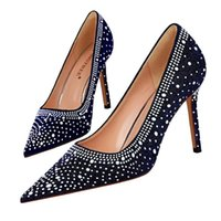 Dress Shoes Spring Women Pumps Sexy Pointy Toe High Heel Pearl Black Pink Wedding Party Ladies Stiletto Heeled