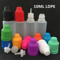 10ml LDPE 애완 동물 vape ejuice eliquid ecig 플라스틱 dropper 병 사각형 빈 바늘 오일 병 항아리 컨테이너 스토리지 다채로운 아이 캡