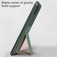 Universal Magnetic Fold Cell Phone cases Holder foldable Invisible Finger Grip Stand for iphone 12 mini 11 Pro Max Smartphone Case Bracket