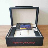 Luxury Top Quality VC Overseas Montres Boîtes Montre Haute Qualité Montre Original Box Papers Bois Bleu Sac à main pour Cinquysx Patrimoine 4500V / 110A Montres-bracelets