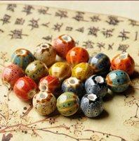 12 мм цветочные глазури керамические бусины арбуз шарм DIY фарфоровые бусины женщины мужские плетеные браслет материал старинные мода ювелирные изделия