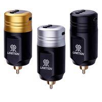 DKLAB 무선 문신 기계 전원 공급 장치 충전식 리튬 폴리머 1600mAh 배터리 USB 충전 5 레벨 조정