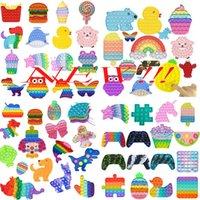 24 ore di spedizione !! Push multiplo Bubble Fidget Toys Tie-Dye Fidget Toy Toy Autism Release Speciale Stress Stress Stress Stress Giocattolo educativo per adulti