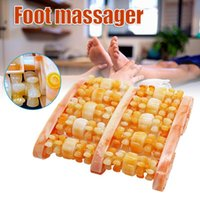 Wholesale Dual Foot Rollers Massager Relieves Plantar Fasciitis Heel Pain Stress Relief Acupressure Reflexology Tool NOV99 Accessories