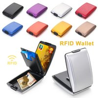 Card Holders RFID Non-scan Metal Wallet Multi-function Anti-Theft Money Clip Coin Purse ID Holder Business Case