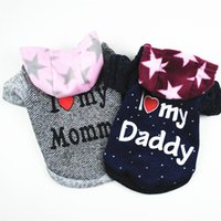 Blue Letter Dog Clothes Hoodie Star Dogs Clothing Sweater For Pet Costume Warm Autumn Winter Cute Fashion Trendy Ropa Para Perro Apparel