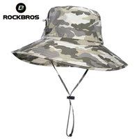 ROCKBROS Cycling Canvas Caps Camouflage Bucket Fishing Outdoor Anti-UV Hunting Removable Hat Airsoft Tactical Hiking Camping Hats