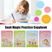 4 Libri Magic Fooybook Impara inglese pittura pratica libro digitale notebook professionale notebook calligrafia dipinta a mano strumenti di pratica CPA5101