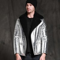 Manteau de fourrure en peau de mouton Sani Sani Sani Sani Hommes Hiver Veste Ventilatrice Hommes d'affaires Véritable Vêtements En Cuir Vêtements Faux