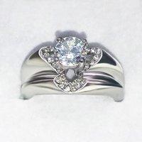 Любовное кольцо мода творческий парень в форме сердца симуляция женское вовлечение
