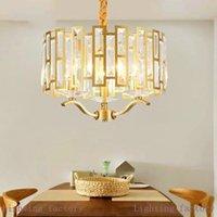 Postmodern LED  K9 crystal chandelier lighting living room Gold hanging lights Nordic bedroom pendant lamp dining fixtures