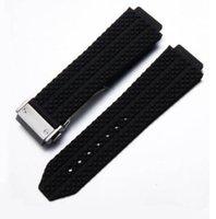 Gummi-Gürtel-Uhr-Band-Band-Gleitverschluss Automatische Bewegung 20mm Größe Männer Uhren Herren Armbanduhren