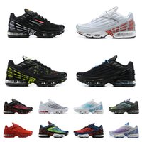 Nike Air Max Herren TN 3 Plus Tuned III Laufschuhe TN3 Trainer Noir Triple Black Wolf Grau Blanche Weiß Blaue Nebel Sneakers Größe 40-45