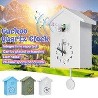 Wall Clocks Modern Plastic Bird Cuckoo Design Quartz Hanging Horologe Clock Timer For Home Living Room Office Decor