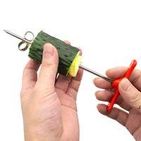 Newcreative Спиральный поворотный нож для огурца морковь фруктовый овощной нож ручной ролик нержавеющая сталь резьба резьба нож кухня EWD6877