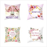 Cushion Decorative Pillow Fuwatacchi Pink Floral Throw PillowCase Cushion Covers Rose Cover For Sofa Chair Decorative Happy Mother's Day