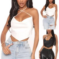 Sweetshirt Women's T-Shirt Top V-neck Halter Loose Navel Sexy Camisole Spring Summer 2021 Frau T-shirts Ladies Fashion Cropped