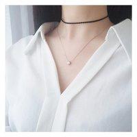Samica sztuczny diamentowy naszyjnik koreański styl mody proste migające obojczyk bb-13 łańcuchy