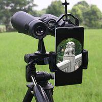 범용 휴대 전화 어댑터 마운트 단안 현미경 액세서리 적응 망원경 모바일 클립 액세서리 브래킷