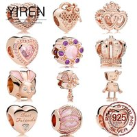 2021 model 925 sterling silver high quality boutique beaded pendant suitable for DIY bracelet fashion women Pandora heart series rose gold products