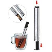 Çay Süzgeci Sopa Paslanmaz Çelik Boru Tasarım Örgü Çay Filtresi Taşınabilir Çay Demlik Teaware OWD8494