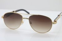 C 새로운 569 골드 장식 뜨거운 안경 작은 fra 흰색 선글라스 유니섹스 스타일 호른 믹스 돌 mens 큰 검은 색 18K djlf bu eagak