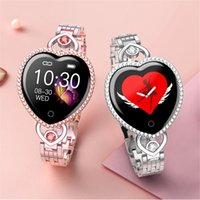 Women Lady Smart Watch Luxury Gift Cute Diamond smartwatch For Girl Friend Clock Heart Rate Tracker Monitor Wristband Fitness Bracelet Fit IOS Android Smartphone