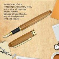 خمر أنيقة الخيزران نافورة القلم مع صندوق للعمل الكتابة القرطاسية مكتب الفاخرة الأقلام الهدايا العلامة التجارية O4E4