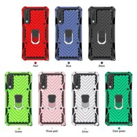 Cas d'armure hybride pour iPhone 12 Pro Max G Stylu 2021 Samsung Galaxy S20 Plus Note 20 Ultra Dual Couche