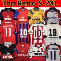 Retro Soccer Jersey 1991 92 93 94 95 96 97 98 99 2000 01 02 Bayern Santa Cruz Daei Papin Elber Zickle Lizarazu Effenberg Scholl Matthaus Klinsmann Football Shirts München