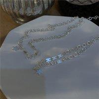 Pendientes Collar Estilo Coreano Estrellas Colgante Pulseras Para Femenino Exquisito Cadena de Cuello Brazalete Accesorios Delicados Accesorios Charm Joyería