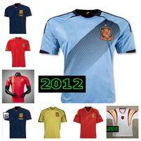 Fan Version1994 1996 2002 2012 Spagna Retro Soccer Jerseys Vintage Classic A.Iniesta Torres Raul Xavi David Villa Vintage Vecchia camicia da calcio