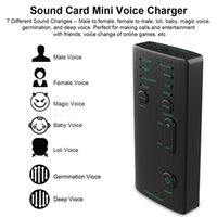 Mini Microphone Voice Changer 7 Sound Changeing Modes Headphones Microphone for Phone Voice Changer Adapter for PUBG Gaming