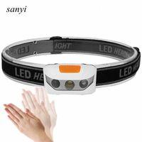 ИК-датчик Фара Мини Индукционные светодиодные фары XBD светодиодный головной светильник фонарь водонепроницаемый открытый W1OS #