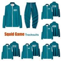 Newest Gym Clothing Squid Game Men's Tracksuits Jackets Li Zhengjae Same Jacket 456 218 067 001 Autumn Casual Polyester