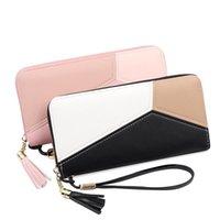 Wallets Ladies Fashion Wallet Korean Long Style Contrast Clutch Large Capacity Zip Phone Bag Purse