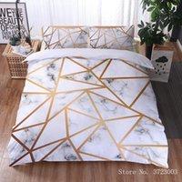 Bedding Sets 3D Marble Pattern Digital Printing Comforter Cover Set Queen King Duvet Soft Microfiber Decor Teens Kids Boy