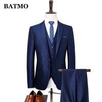 Trajes Para Hombres Blazers Blazers Batmo 2021 Llegada Samrt Hombres Casuales, Vestido de Moda, Chaquetas + Pantalones + Chaleco, 871