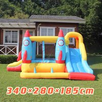 Baby inflatable castle children's trampoline amusement park slide indoor and outdoor large trampoline square toys
