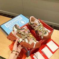 2022 Bottoms rossi uomini scarpe da donna con borchie Spikes mocassini Sneakers pelle scamosciata Pelle Appartamenti Mens Trainer Casual Shoe Jogging Walking 02