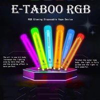 Original E-Taboo Disposable Pod Device Kit E Cigarette 1000 Puffs 600mAh Battery 3.5ml Prefilled Cartridge RGB Light Glowing Flash Vape Stick Pen 100% Authentic