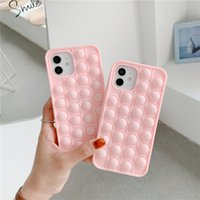 Pop it fidget Cases 3D Relive Stress Phone Cover For Iphone 12 Mini Pro 11 XR XS MAX X 8 7 Plus SE 2 Soft Silicon Kids Adults Toy