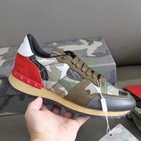 RockRunner Kamuflaj Sneakers Erkekler Koşucular Için Rahat Düz Ayakkabı Yüksek Kaliteli Chaussures Sneaker Hakiki Deri Kauçuk Taban Ile Kutusu No 304