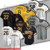 21 Roberto Clemente 8 Willie Stargell Jersey Piratas 26 Adam Frazier 27 Kevin Newman 25 Gregory Polanco Jerseys Pittsburgh Colin Moran