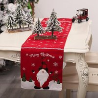 المطبخ tablerunner الطعام معيشة معيشة سائدة عيد ميلاد سعيد الجدول عداء عيد الميلاد سماط الأعلام إيلك المطبوعة الكتان حزب FWF9961