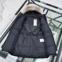 Progettista di alta qualità La Giacca da donna Giacca Femme Cappotti Winter Parkas Real Wolf Fur Colletto Bianco Anatra Cappotto Cappotto Cappotto Donne di Fashion Giacche