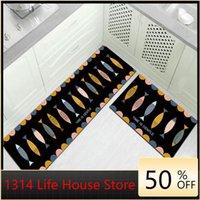 Modern minimalista cozinha tapete tapete sala de estar quarto entrada porta fechada almofada de pé pode ser personalizado processando esteiras de banho