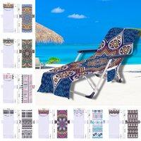 Strandstuhlabdeckung Mandala Muster Pool Lounge Chaise Handtuch Sun Lounges Abdeckungen mit seitlichen Aufbewahrungs-Taschen GWA4513