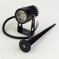 (10 unids / lote) Hight Light Outdoor 3 * 3W LED Lámpara Lámpara Impermeable IP65 Jardín Luz de iluminación AC85-265V / DC12V Lámparas De Lawn