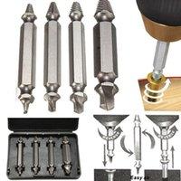 Skruv Extractor Tool Box Alloy Steel Broken Damaged Bolt Remover Borr Bit Guide Set med Retail Package